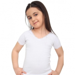 Kısa Kollu Kız Çocuk Atlet