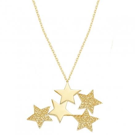 Altın Kutup Yıldızı Kolye TK1019