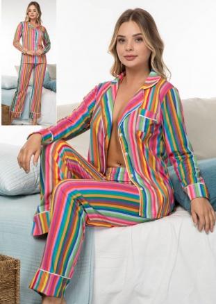 Önden Düğmeli Pijama Takım