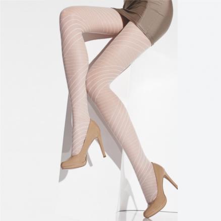 Beyaz Desenli Çorap