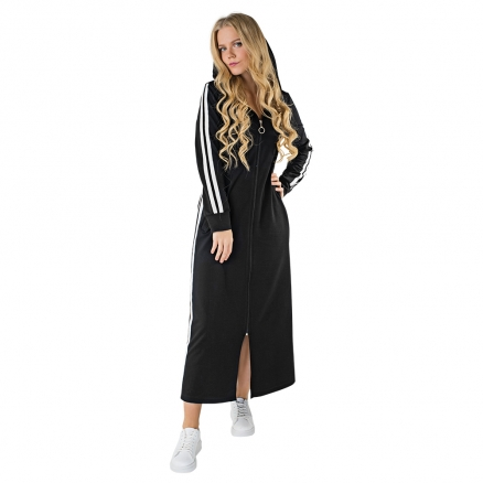Koton Fermuarlı Uzun Elbise