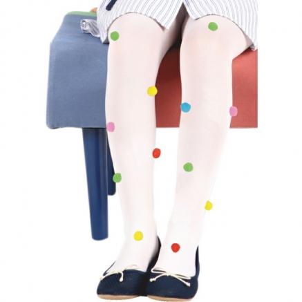 Ponpon Desenli Külotlu Çocuk Çorabı
