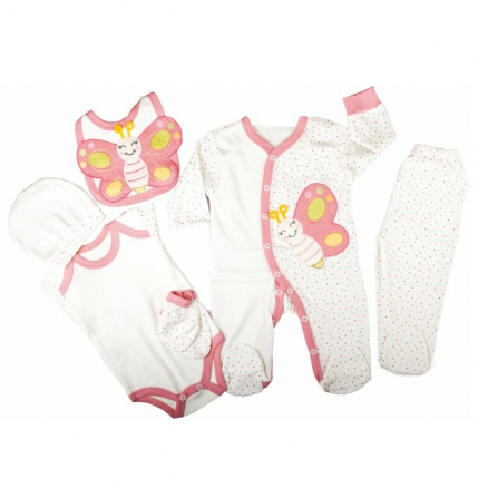 6 Lı Bebek  Giyim Seti
