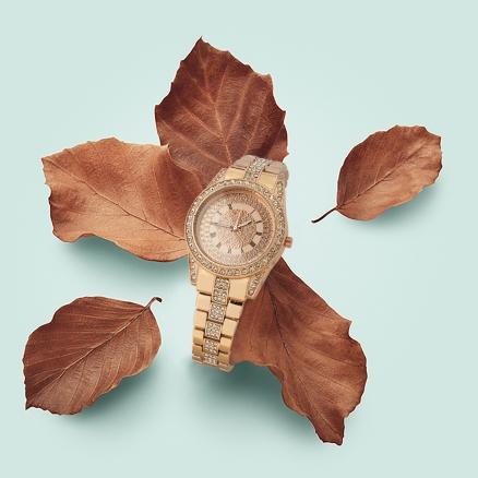 Taşlı Metal Kordonlu Kadın Saat
