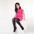 Kız Çocuk Simli Desenli Çorap